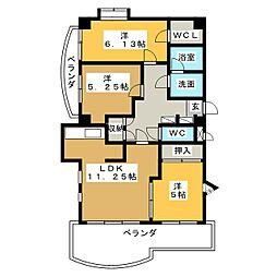 SMY88原[3階]の間取り