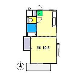 ブルーメンヴォーヌン河合[2階]の間取り