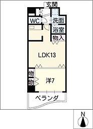 名駅・ドットマンション[7階]の間取り