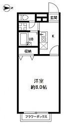 アムールYUGI[2階]の間取り