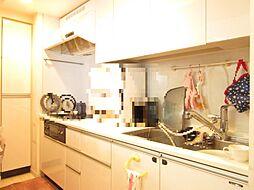 約4.4帖のキッチン。ディスポーザー、浄水機能付水栓付。