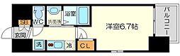 エステムコート新大阪14アイシー 10階1Kの間取り