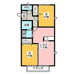 マルシェ[2階]の間取り