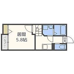 ピュア別府六番館[1階]の間取り