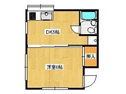 渡辺コーポ[1階]の間取り