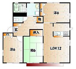 アルバ若園 B棟[1階]の間取り