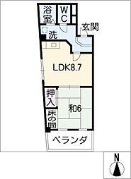原田ビル[4階]の間取り