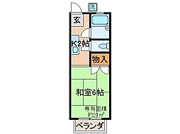 京都府京都市山科区東野北井ノ上町の賃貸アパートの間取り