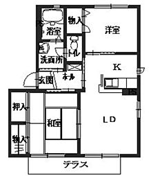 アクティC棟[1階]の間取り