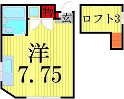 松岡コーポ3[202号室]の間取り