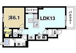 奈良県奈良市六条1丁目の賃貸アパートの間取り