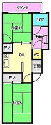 狐島興里アパート[12号室]の間取り