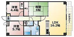朝日プラザモンターニュ北神戸1番館[3階]の間取り