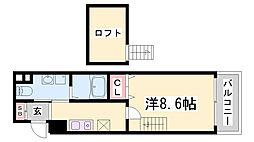 ロフティカミワカsecond[3階]の間取り