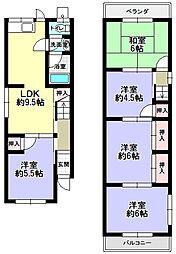 [一戸建] 大阪府枚方市上島町 の賃貸【/】の間取り