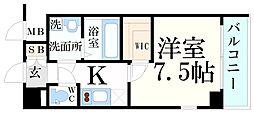 神戸市海岸線 中央市場前駅 徒歩4分の賃貸マンション 4階1Kの間取り