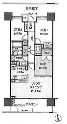 パークシティ堺東タワーズブライト[20階]の間取り