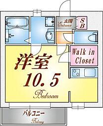 フォレストメゾン須磨寺[203号室]の間取り