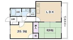 兵庫県西宮市一ケ谷町の賃貸マンションの間取り