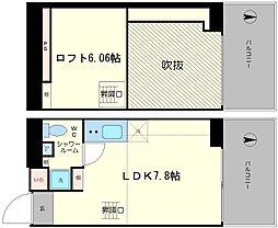 是空NANBANISHI[603号室]の間取り