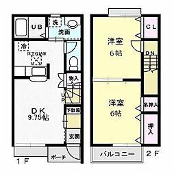 フローラ霞ヶ岡[2階]の間取り