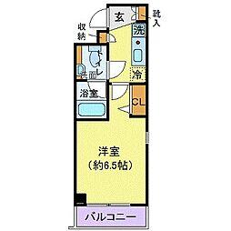 東京メトロ有楽町線 千川駅 徒歩6分の賃貸マンション 3階1Kの間取り