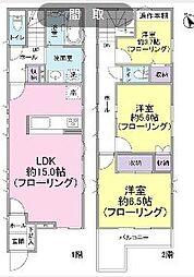 [一戸建] 東京都世田谷区砧3丁目 の賃貸【/】の間取り