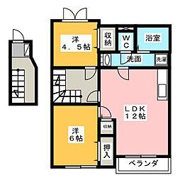リセスガーデンII[2階]の間取り