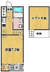 リフミック姪浜[1階]の間取り