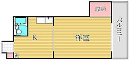 第2富士ハイツ[4階]の間取り