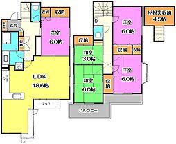 [一戸建] 東京都練馬区下石神井2丁目 の賃貸【/】の間取り