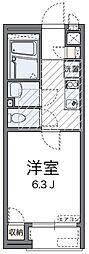 神奈川県横浜市港南区日野中央1の賃貸アパートの間取り