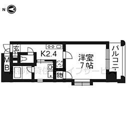 ベラジオ四条大宮[8階]の間取り