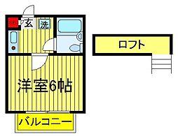 ジュネパレス柏第504[2階]の間取り