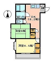 ヴィアーレヤマザキC[3階]の間取り