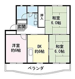 久川ハイツ[3階]の間取り