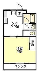 コーポカトウI[1階]の間取り