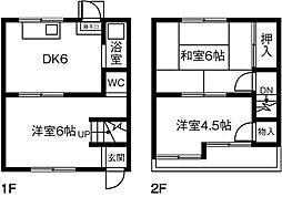 [テラスハウス] 愛知県春日井市高蔵寺町北2丁目 の賃貸【/】の間取り