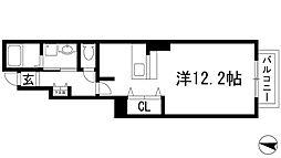 兵庫県伊丹市鋳物師2丁目の賃貸アパートの間取り