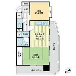 ライオンズマンション久留米駅東[3階]の間取り