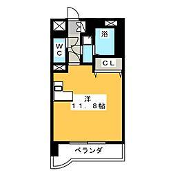 ライオンズマンション荒町第2[2階]の間取り