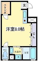 大阪府大阪市住之江区安立3丁目の賃貸マンションの間取り