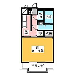 ユートピア垣鼻II[1階]の間取り