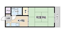西浦マンション[13号室号室]の間取り