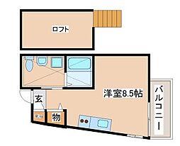 JR山陽本線 須磨駅 徒歩7分の賃貸マンション 3階ワンルームの間取り