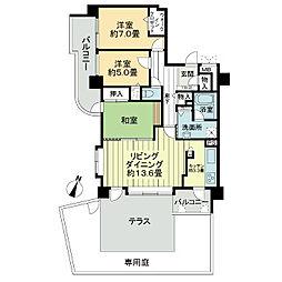 ライオンズマンション円山桜通り[1階]の間取り