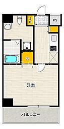 JR京浜東北・根岸線 蒲田駅 徒歩15分の賃貸マンション 4階1Kの間取り