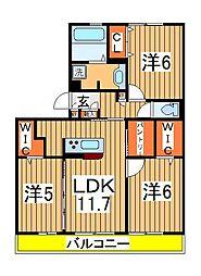 仮)D-roomセントラルパーク[303号室]の間取り