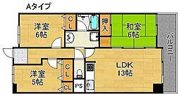 サワー・ドゥー住之江公園[2階]の間取り