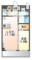 (仮称)堺市堺区向陵中町3丁新築賃貸マンション 2階1LDKの間取り